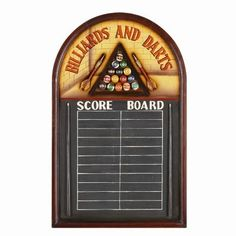 Chalkboard for keeping score while playing darts
