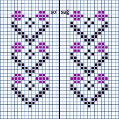 This Pin was discovered by HUZ Cross Stitch Bookmarks, Cross Stitch Heart, Cross Stitch Borders, Cross Stitch Flowers, Cross Stitch Designs, Cross Stitching, Cross Stitch Patterns, Knitting Charts, Knitting Patterns