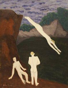 Milton Avery (American: 1885–1965)   Quarry Bathers  (1937)