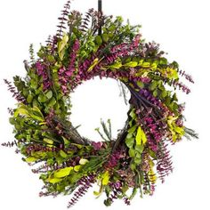 Mixed all natural Eucalyptus natural wreath with baby spriral, rice flower , citrus/pink colors. Fragrant and beautiful. Features - All natural Eucalyptus - Available in 17 and 24 inches - Designed, g
