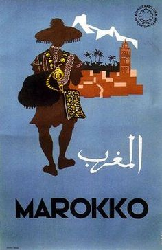 Vintage Morocco travel poster