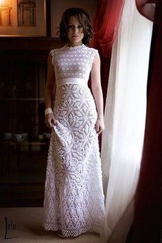 vestidos de noiva de croche
