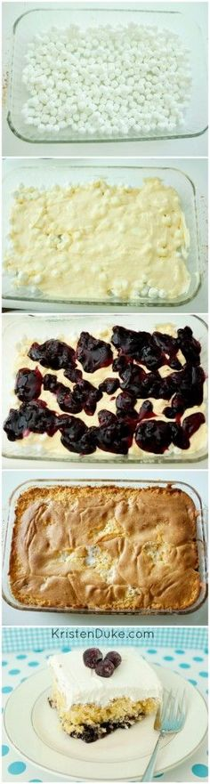 Try making this delicous blueberry layer whip cake for your next party or dessert - it's sure to be loved! KristenDuke.com