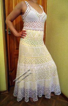 Exitoso modelo: calado crochet vestido de verano. Debate sobre LiveInternet - Servicio ruso diarios online