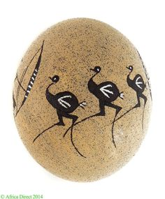 Ostrich+Egg+Sand+Paint+Rock+Painting+South+African+SALE+WAS+$75+