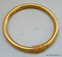 Traditional design gold gilded silver Bracelet or Bangle rajasthan india | eBay