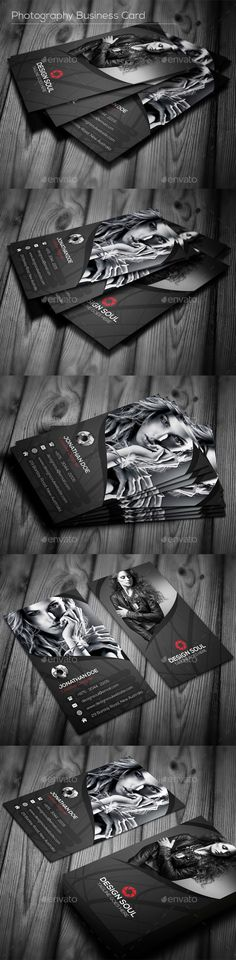 Photography Business Card  -  PSD Template • Download ➝…
