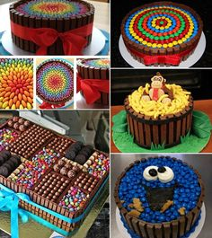 Stunning Cake Decorating Ideas With Lollies pertaining to Kit Kat Candy Display Torta Candy, Candy Cakes, Cupcake Cakes, Fun Cakes, Kit Cat Cake, Chocolate Lollies, Lolly Cake, Cake Hacks, Cake Decorating Supplies
