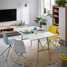 Console table extensible Aruna - Kave Home Console Table, Consoles, Scandinavian Dining Table, Console Extensible, Small Dining, Dining Chair Set, Diy Furniture, Bedroom Decor, Interior Design