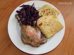 Pečená kačička, najlepšia kapusta na svete a lokše,ktoré som robila prvý krát (fotorecept) - Recept