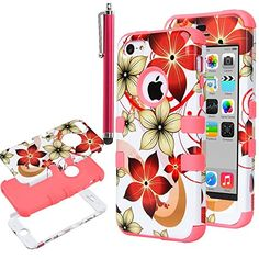 iPhone 5S Case, iPhone 5 Case, ULAK Cover for iPhone 5 5S 5G Hybrid High Impact Pretty Flower Soft TPU + Hard PC Hard Case with Screen Protector and Stylus (Water Red) ULAK http://www.amazon.com/dp/B00PK45B14/ref=cm_sw_r_pi_dp_1gQAub02Q6EPN
