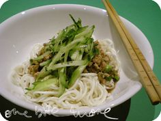 shanghai noodles with pork mince by onebitemore