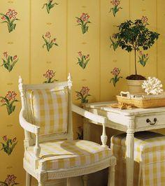 LOVE yellow gingham