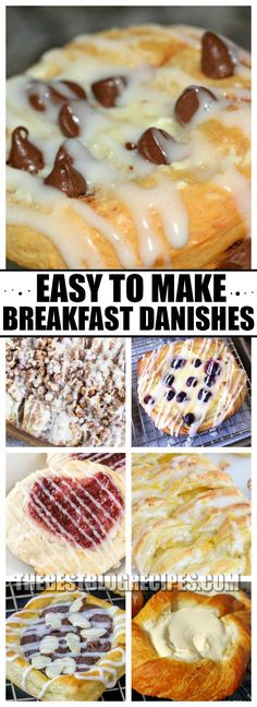 We all need Easy to Make Breakfast Danishes to Start Mornings off Right. Seriously, everyone needs a morning boost, and these delectable danishes are the way to kick off your day in the best possible way! Breakfast Pastries, Breakfast Items, Breakfast Dishes, Breakfast Recipes, Breakfast Club, Breakfast Finger Foods, School Breakfast, Recipes Dinner, Brunch Recipes