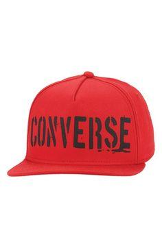 Converse 'Stencil Logo' Snapback Cap