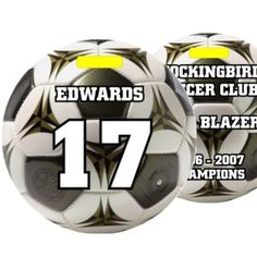Dixie Midwest -     Personalized Soccer Bag Tags - Looks Like A Soccer Ball, $6.40 (http://www.dixiemidwest.com/personalized-soccer-bag-tags-looks-like-a-soccer-ball/)