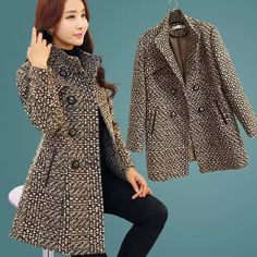 kKissb Hats New Women's Wool Blends Coat Winter 2018 Autumn Fashion Elegant Mother Turtleneck Plaid Slim Long Tweed Woolen Outerwear Female - Gender: Women Stylish Coat, Stylish Jackets, Plaid Coat, Wool Coat, Tweed, Coats For Women, Clothes For Women, Girl Outfits, Fashion Outfits