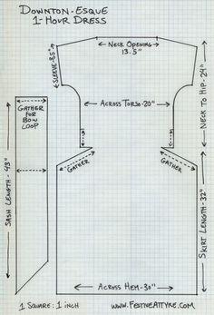 Festive Attyre: pattern drafting
