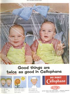 Giant flies, fresh cigarettes and babies wrapped in plastic: Hilarious vintage ads used to promote cellophane to housewives in days gone by Vintage Humor, Vintage Ads, Vintage Food, Vintage Posters, Retro Humor, Funny Vintage, Retro Food, Retro Posters, Vintage Signs