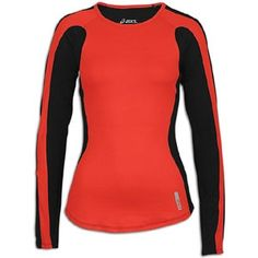 ASICS Pop Color L/S Performance T-Shirt - Womens - Flame/Black in Spring Sports 2013 from Eastbay on shop.CatalogSpree.com, my personal digital mall.