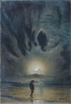 Frederick James Shields - Hamlet and the Ghost, 1901