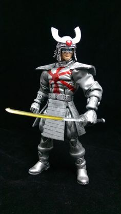 Silver Samurai custom action figure from the Marvel Legends series using Sentry as the base, created by Wings. Silver Samurai, Marvel Legends Series, How To Make Comics, Custom Action Figures, Fantasy Characters, Cool Toys, Statues, Comic Books, Doll