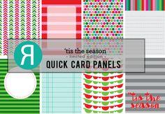 Reverse Confetti Quick Card Panels: 'Tis the Season. Oct 2015