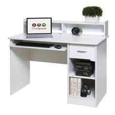 OneSpace Essential Computer Desk with Pull-out Keyboard