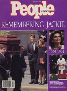 """People"" magazine coverage of Jackie's funeral in 1994."