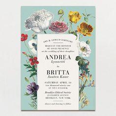 Wildflower Bouquet Wedding Invitation   Printable Press