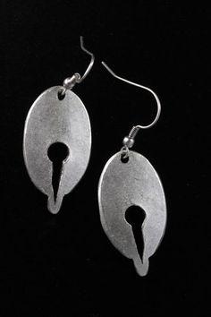 Old World Ottoman Era Fashion Jewelry Antique Silver Finish Dangle Earrings