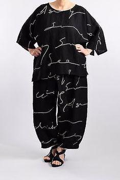 e41bfe8978 Lagenlook plus size 100% linen italian summer dress 7 cols 3 4 slv fits  16-20