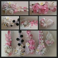 Shabby chic altered clothespins