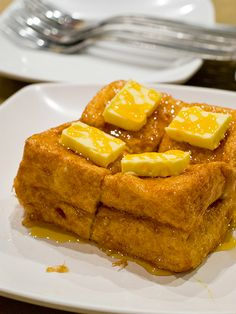 hong kong style french toast :D loads of butter and syrup!