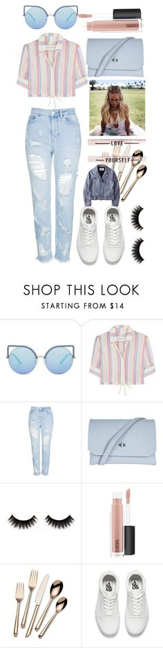 """""""Coachella Week 2"""" by dancing-blondie ❤ liked on Polyvore featuring Matthew Williamson, Solid & Striped, Topshop, MAC Cosmetics, Towle, Vans, Acne Studios, Spring, fashionable and women"""