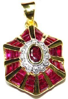Ruby Jewelry 14K Yellow Gold Diamond Gemstone Pendant [P_158] BKGjewelry http://www.amazon.com/dp/B00CJUW4NU/ref=cm_sw_r_pi_dp_HHdpwb1WWCH5Y