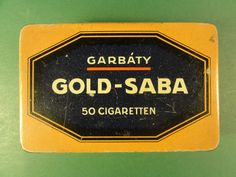 (Henry Collection) WW 1 Alte Zigarettendose GOLD-SABA 50 CIGARETTEN Trustfrei - Garbáty Berlin Pankow