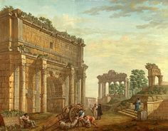 Triumphal Arch of Septimus Severus at Rome