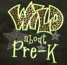 Wild about PreK Cheetah School Shirt Teacher by trendyembroidery, $20.00