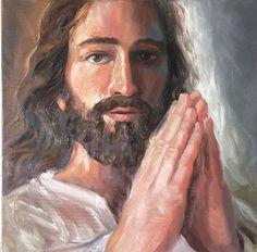 """The Lord's Prayer"" by Randy Friemel Oil ~ 20 x 20"