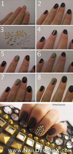 gold 1- nail art