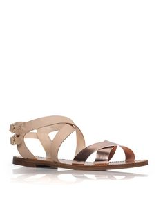 The Analeigh - Polished metallic straps make for a chic accent on this double buckle flat.