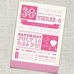 30th Birthday Invite
