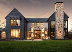 Contemporary Farmhouse Exterior, Modern Exterior Doors, Interior Modern, Exterior Design, Contemporary Kitchens, Contemporary Bedroom, Exterior Colors, English Cottage, French Cottage Garden
