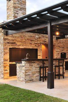 Outdoor Kitchen Patio, Outdoor Kitchen Design, Small Patio, Outdoor Rooms, Outdoor Living, Outdoor Kitchens, Patio Pergola, Backyard Patio Designs, Patio Ideas