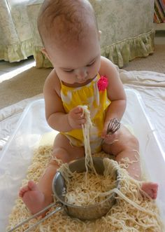 The Montessori on a Budget blog: Exploring Montessori Sensory Play with Babies