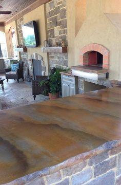 SunWorks, Etc. Of Annville PA Creates Distinctive #DecorativeConcrete.  Countertops, Floor Treatments