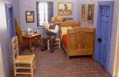 """Joe Fig  Dear Vincent (Vincent Van Gogh 1888), 2001  10.5"""" x 11"""" x 14""""  Mixed Media"""