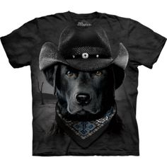 Cowboy Lab tee, click or dial for black Labrador retriever shirts, gifts, and supplies that help feed shelter dogs in the USA. Schwarzer Labrador Retriever, Black Labrador Retriever, Labrador Retrievers, Labrador Puppies, Golden Labrador, Big Dogs, I Love Dogs, Dachshund Funny, Homeless Dogs