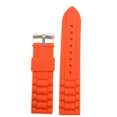 20mm Change Orange Silicone Jelly Rubber Ladies Watch Band Straps WB1002H20JB